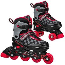 New! Roller Derby Soft 2N1 Inline/Roller Combo Skates Boy's 3-6 *No Box*