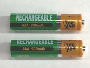 2 x JCB Rechargeable NiMH 900mAh 1.2V AAA for Panasonic Cordless Phones