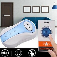Waterproof Wireless Digital Music Bell Sound Music Chime Cordless With Remote
