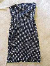 Bay Black & White Spotted Strapless Wiggle Dress Size 8 - mislabelled - no belt