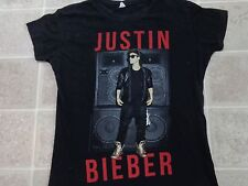 JUSTIN BIEBER Believe Tour 2012-2013 T-SHIRT Ladies MED Black Speakers Cities M