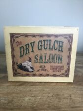 Dry Gulch Saloon Wooden Box W/ Handles Storage Decor Bar Western Cowboy Man Cave