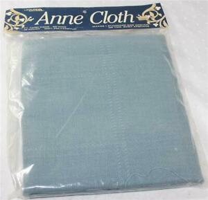 Leisure Arts 18 CT Anne Cloth Blue Afghan Needlepoint Cross Stitch Fabric 1 YD+