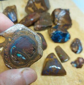 381 Grams Boulder Opal Rough Parcel, Yowah, Koroit, Australian Opal