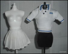 TOP BOTTOM BARBIE DOLL MILLICENT ROBERTS COURT FAVORITE WHITE SHIRT AND SKIRT