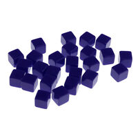 25 Dice Set Six Sided D6 Blank Blue for  MTG D&D - 12mm
