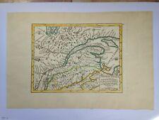 XVIIIe SIECLE CANADA QUEBEC 1749  ROBERT DE VAUGONDY ANTIQUE ENGRAVED MAP