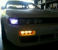 89-94 240SX Silvia 180SX LED Hearts Bumper Lights Turn Signal