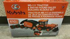 Kubota M5-111 Tractor & BV5160 Round Baler Building Blocks Set 77700-07593