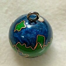 Blue Planet - Enamel Orb Necklace Pendant with HarmonyBell
