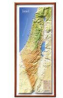 "Large Raised Relief 3D Map of Israel (MEDIUM: 20"" x 9"") Holy land Map Christian"