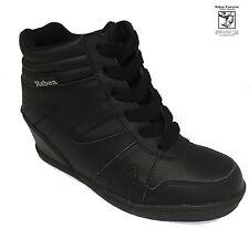 RABEN Ladies Leather Wedge Black Sneaker RAB 15235
