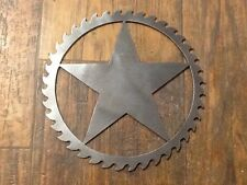 Saw Blade Style Star Metal Art Plasma Wall Gate Decor Rustic