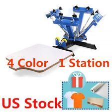 Usa 4 Color 1 Station T Shirt Silk Screen Printing Press Machine Diy