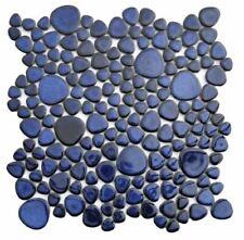 Porcelain Cobalt Mosaic Pebble Tile