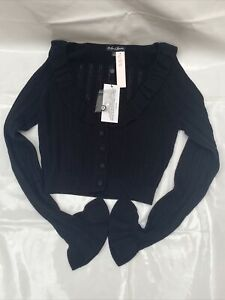 For Love And Lemons Knit Cardigan, Black Size S