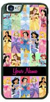 Disney Princess Collage with NAME Phone Cover Case For iPhone Samsung Google etc