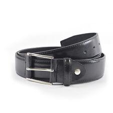 Tom Frank marca Forte Cintura in pelle per pantaloni casual e Jeans Nero-SMALL