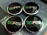 4pcs 56mm Skoda VRS Wheel Centre Caps Alloy Hub Badge Emblem Octavia Fabia Yeti