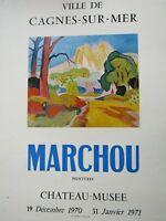 Marchou / Affiche d'exposition Cagnes sur mer 1971