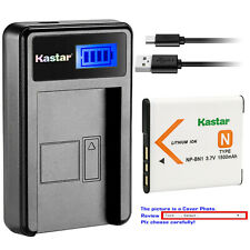 Kastar Battery LCD USB Charger for Sony NP-BN1 NPBN1 & Sony Cyber-shot DSC-W830