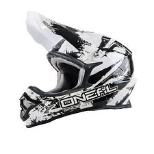 O 'Neal 3 Series Shocker MX Casco Bianco Nero XL MOTOCROSS ENDURO CROSS OFFROAD