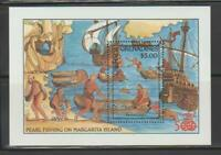 SHIP2 - SHIPS BOATS GRENADA GRENADINES 1992 ANNIV COLUMBUS EXPLORATION SS MNH