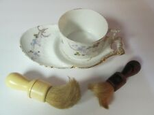 Vintage/Antique Porcelain Bone China Mug / Cup & Dish & (2) Shaving Brush