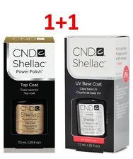 CND Shellac Set UV Top & Base Coat Power Polish 0.25 fl oz 7.3ml