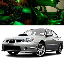 For 06-07 Subaru Impreza AWD STI WRX LED Xenon Green Light Bulb Interior Kit