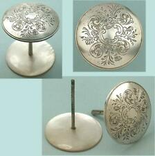 Rare English Antique Sterling Silver & Mother of Pearl Thread Spool * Circa 1860
