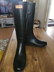 Hunter boots size 7 black
