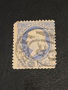 US Stamp 1881-82  Scott# ? 1 Cent Ben Franklin  used  Ultramarine - #4059
