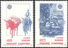 ANDORRE 1988 Europa/Communications/Mules/Âne/routes/transport 2 V Set (ex1016)
