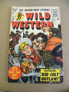 Marvel Atlas 1956 WILD WESTERN #50 Kid Colt Joe Maneely Fine plus wg Western