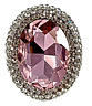 Pink Rhinestone Ring Pageant Glamour Statement Jewelry Stretch Band  R12350