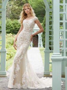 Mori Lee 2028 Size 14 GENUINE Wedding Dress Ivory With tags