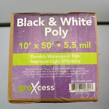 Groxcess Black & White Poly Grow Light Reflector Roll 10' x 50' x 5.5 mil.