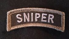 SNIPER TAB TACTICAL US ARMY MORALE INFIDEL SWAT OPS VELCRO® BRAND FASTENER PATCH