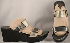 Women's NAOT Platinum Wedge Slide Sandals EUR 39 US 8-8.5