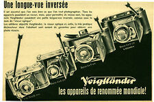 Publicité ancienne appareil photo Voigtländer No 7 1941 issue de magazine