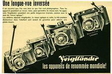 Publicité ancienne appareil photo Voigtländer No 7  1941