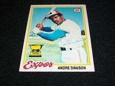 Montreal Expos HOF Andre Dawson Auto Signed 1978 Topps Card #72  TOUGH  N