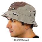 BUCKET HAT Cap Cotton Fishing Boonie Brim visor Sun Safari Summer Men Camping 2