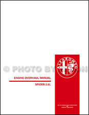 1982-1991 Alfa Romeo Spider 2.0L Engine Overhaul Manual Veloce Graduate Quad