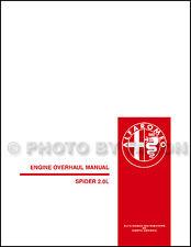 1982-1991 Alfa Romeo Spider 2.0L Engine Overhaul Manual Veloce Graduate Quad
