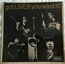 ROLLING STONES, GOT LIVE IF YOU WANT, 1965 UNBOXED DECCA EP, VG PLAYS BETTER.