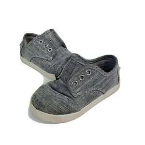 Toms Tiny Infant Paseo High Shoes Grey Size 6 US Toddler