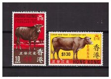 Hongkong 1973 MI 266/267 Year of the Ox MNH