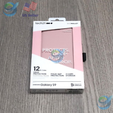 NEW Case For Samsung Galaxy S9 📲 | Tech21 Evo Wallet Credit Cards- Pink